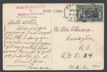 cz042e5. Canal Zone 42 on Panama PPC tied by EMPIRE 4-5-1915 to U.S. Nice usage.
