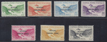 czco01e. Canal Zone CO1-CO7 unused NH Fresh & F-VF/VF. Attractive set!