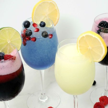 Berry, Blueberry-Pomegranate, Hard Lemonade, Blackberry-Sangria, Blueberry Wine Slushies