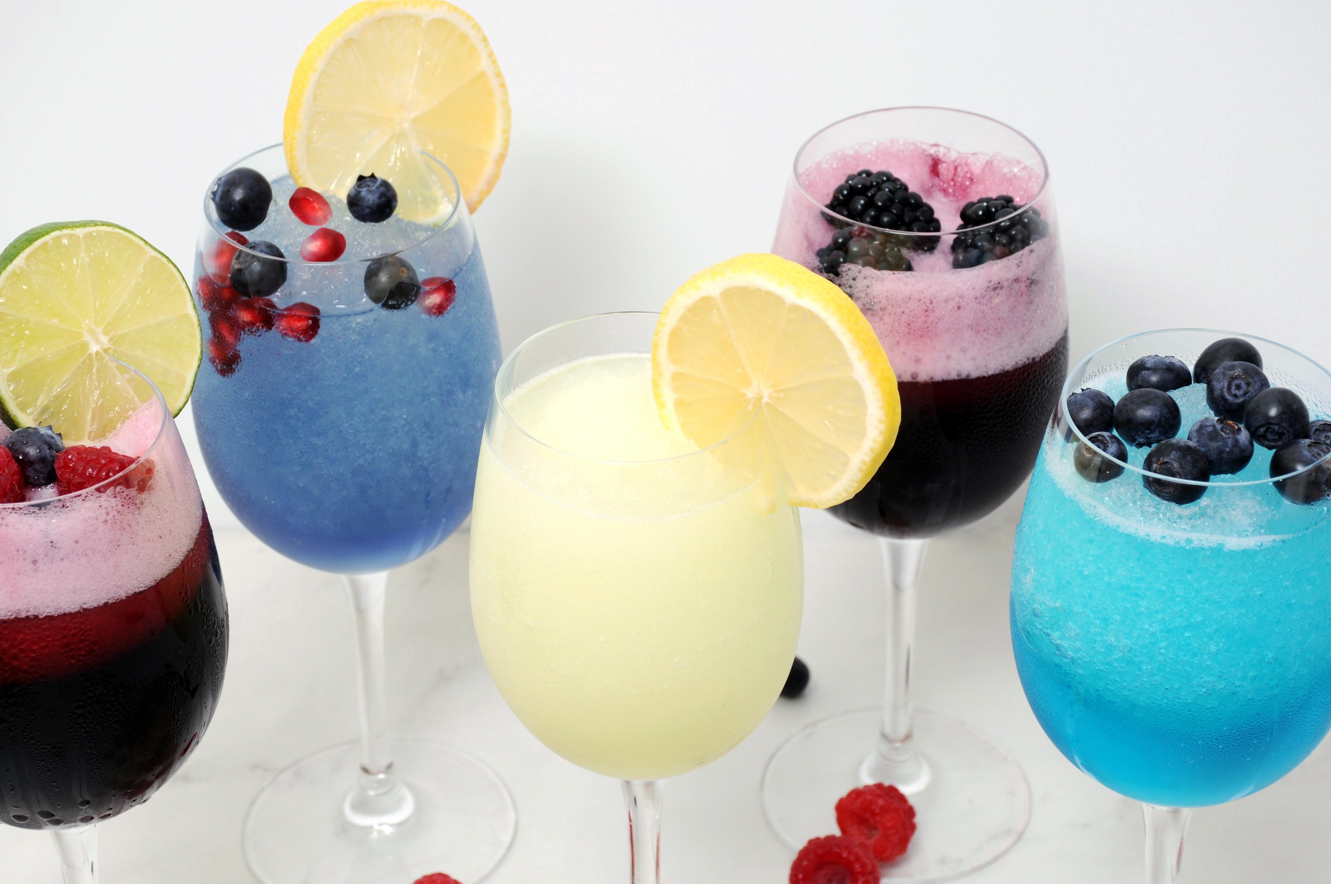 Berry, Blueberry-Pomegranate, Hard Lemonade, Blackberry-Sangria, Blueberry Wine Slushies