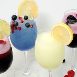 hard lemonade,  blackberry-sangria, blueberry pomegranate, sangria