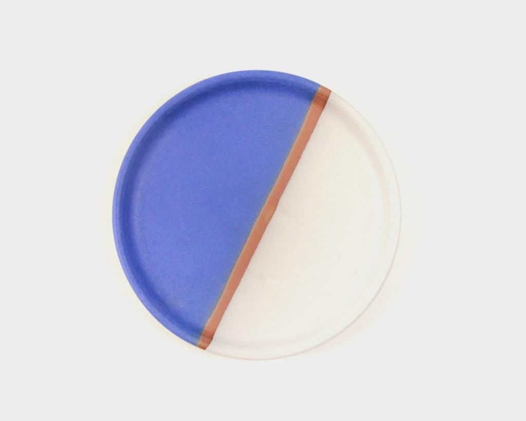 Blue Stripe Stoneware Plate