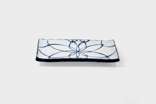 Hand Painted Blue Flat Dish