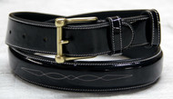 C&C Glossy Fancy Stitched Patent Belt