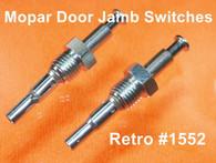 Mopar Door Jamb Switches 62-68 A/B/C Body Dart Satelite Pair #1552