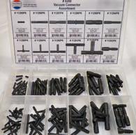 Vacuum Connector Assortment 12 Sizes Black Nylon (113 Pcs) Plastic Tray #1632