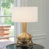 Fat Brass Twig Table Lamp
