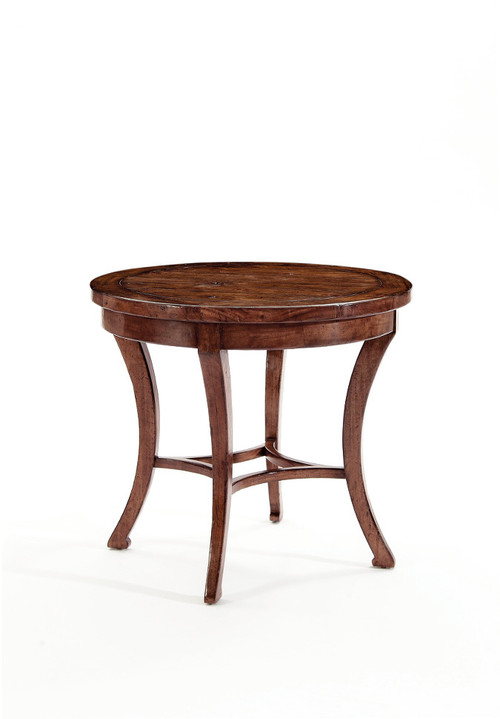 Superb Vintage Patina Round End Table By Bernhardt FREE SHIPPING (322 122)