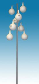 13.5 ft. Alum. Gourd birdhouse Pole Kit 8 Piece Double Spiral Design