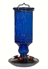 16 oz Elegant Antique Glass Bottle Blue