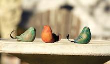 Ceramic Bird w/ Metal Tail