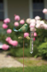 Bird Rain Gauge Teal