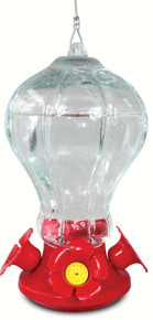 Fluted Glass Hummingbird Feeder