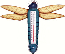 Blue Dragonfly Large Window Thermometer