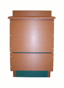 OBC Bat House Triple Chamber Poly Brown