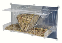 Clear View Deluxe Hopper Mirrored Window Feeder