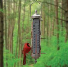 Bird Feeder Thermometer 1 lb Satin Nickel