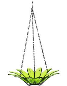 12 inch Daisy Birdbath Lime