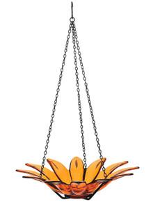 12 inch Daisy Birdbath Orange