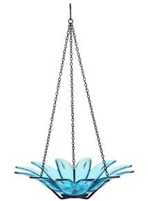 12 inch Daisy Birdbath Aqua