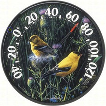 Audubon Collecting12 In/Outdoor Goldfinches II Thermometer