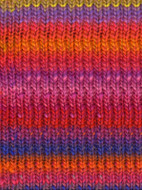 Noro #102 Orange, Red, Pink, Kureyon Yarn (4 - Medium)