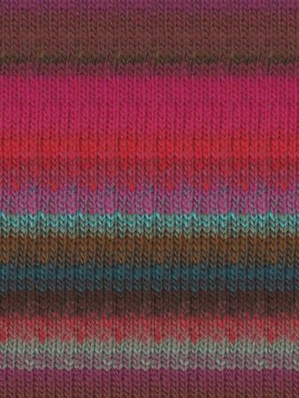 Noro #326 Pink, Brown, Blue, Kureyon Yarn (4 - Medium)