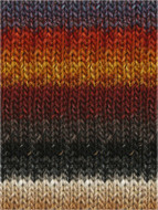 Noro #349 Burnt Orange, Wine, Greys, Taupe Silk Garden Yarn (4 - Medium)