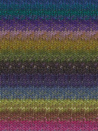 Noro #301 Royal, Purple, Fuschia, Lime Silk Garden Yarn (4 - Medium)