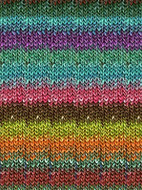 Noro #275 Teals, Brown, Lime, Orange Silk Garden Yarn (4 - Medium)