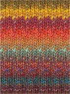 Noro #341 Plum, Mustard, Tomato, Tangerine Silk Garden Yarn (4 - Medium)