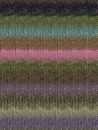 Noro #276 Lime, Brown, Purple, Turq Silk Garden Yarn (4 - Medium)