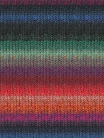Noro #329 Orange, Green, Black, Blue Kureyon Yarn (4 - Medium)