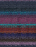 Noro #327 Violet, Blue, Turquoise, Brown Kureyon Yarn (4 - Medium)