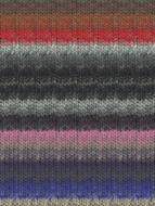 Noro #340 Silver, Black, Red, Brown Kureyon Yarn (4 - Medium)