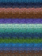 Noro #264 Tan, Greens, Blues Silk Garden Sock Yarn (1 - Super Fine)