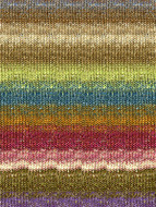 Noro #279 Browns, Blues, Deep Rose Silk Garden Sock Yarn (1 - Super Fine)