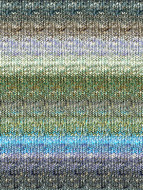 Noro #268 Green, Aqua, Brown Silk Garden Sock Yarn (1 - Super Fine)