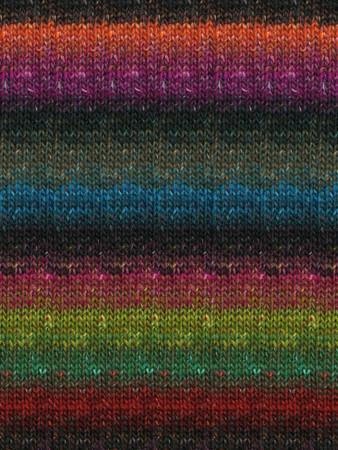 Noro #211 Black, Purple, Teal, Greens Silk Garden Sock Yarn (1 - Super Fine)