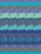 Noro #373 Blue, Sky, Royal, Light Green Silk Garden Sock Yarn (1 - Super Fine)
