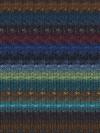 Noro #377 Blue, Lime, Brown, Black Silk Garden Yarn (4 - Medium)