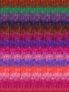 Noro #415 Pink, Blue, Brown Silk Garden Yarn (4 - Medium)