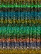Noro #426 Green, Teal, Bronze Silk Garden Yarn (4 - Medium)
