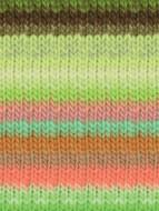 Noro #345 Lime, Pink, Orange, Brown Kureyon Yarn (4 - Medium)