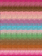 Noro #348 Pinks, Brown, Blue, Green Kureyon Yarn (4 - Medium)