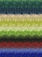 Noro #289 Brite Greens, Blue, Orange Silk Garden Yarn (4 - Medium)
