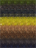 Noro #351 Acid Yellow, Browns, Denims, Greys Silk Garden Yarn (4 - Medium)