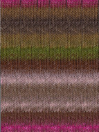 Noro #355 Pink, Brown, Green Silk Garden Yarn (4 - Medium)