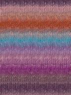 Noro #357 Orange, Violet, Turq Silk Garden Yarn (4 - Medium)