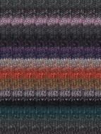 Noro #376 Black, Pink, Grey, Orange Silk Garden Yarn (4 - Medium)
